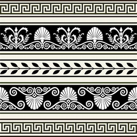 elakwasniewski (artist) - Decorative vector ornaments, antique greek borders, full scalable vector graphic included Eps v8 and 300 dpi JPG. Stock Photo - Budget Royalty-Free & Subscription, Code: 400-04346450
