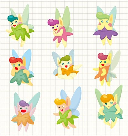 cartoon little baby fairy icon Stock Photo - Budget Royalty-Free & Subscription, Code: 400-04346484