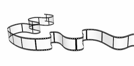 film strip - 3d abstract filmstrip. Object isolated over white Stock Photo - Budget Royalty-Free & Subscription, Code: 400-04347657