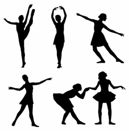 Illustration of ballerinas. Isolated white background. EPS file available. Stock Photo - Budget Royalty-Free & Subscription, Code: 400-04348022