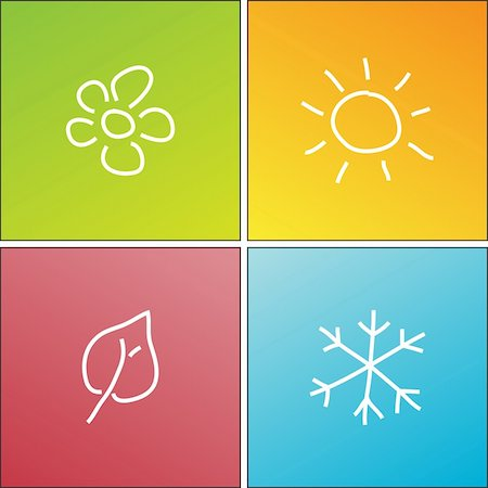 symbols of four seasons Stock Photo - Budget Royalty-Free & Subscription, Code: 400-04349056