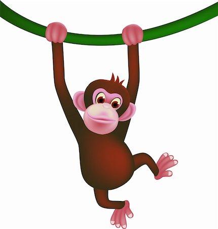 smiling chimpanzee - Cute monkey Stock Photo - Budget Royalty-Free & Subscription, Code: 400-04349104