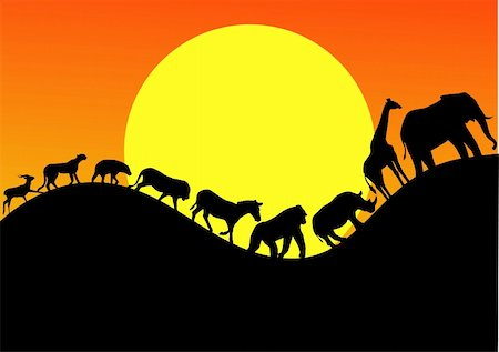 animal silhouette Stock Photo - Budget Royalty-Free & Subscription, Code: 400-04349318