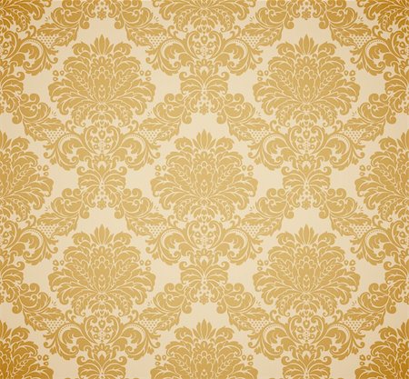 Damask seamless floral pattern. Vintage vector illustration. Stock Photo - Budget Royalty-Free & Subscription, Code: 400-04342466
