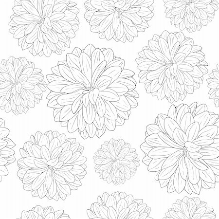 flores - Seamless wallpaper with beautiful flowers Stock Photo - Budget Royalty-Free & Subscription, Code: 400-04343378