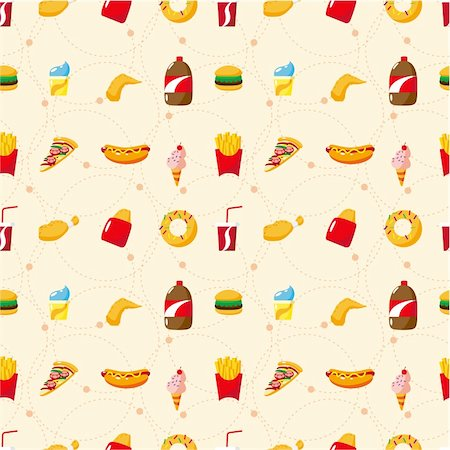 sandwich wrapper - seamless fast food pattern Stock Photo - Budget Royalty-Free & Subscription, Code: 400-04343483