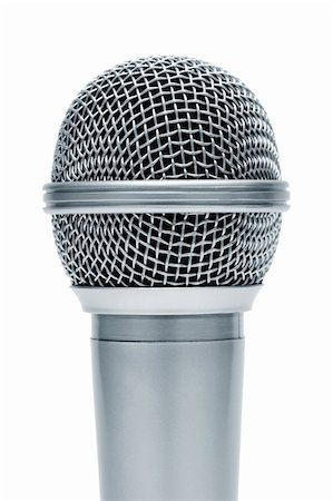 Beautiful new microphone on a white background Stock Photo - Budget Royalty-Free & Subscription, Code: 400-04355818