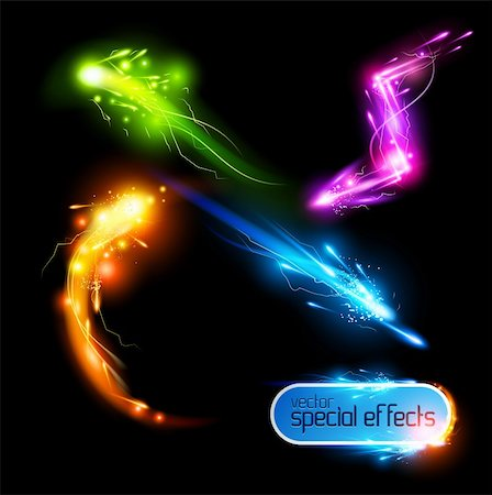 spark vector - Vector Special Effects Set Stock Photo - Budget Royalty-Free & Subscription, Code: 400-04358241