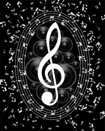 Vector musical notes staff background for design use Stock Photo - Budget Royalty-Free & Subscription, Code: 400-04359089