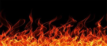 Seamless fire and flame border on black background Stock Photo - Budget Royalty-Free & Subscription, Code: 400-04359618