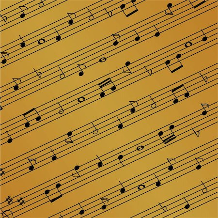 Musical notes on the sheet Stock Photo - Budget Royalty-Free & Subscription, Code: 400-04359623