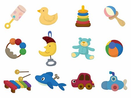 cartoon toy icon Stock Photo - Budget Royalty-Free & Subscription, Code: 400-04359757