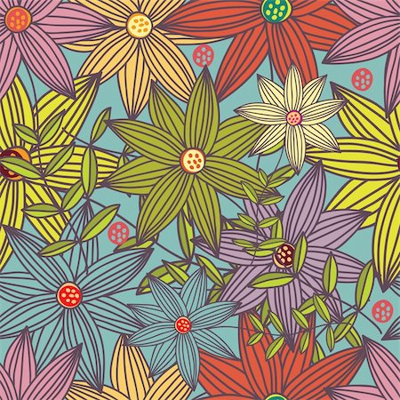 simsearch:400-04765926,k - Floral seamless pattern in vector Stock Photo - Budget Royalty-Free & Subscription, Code: 400-04350514