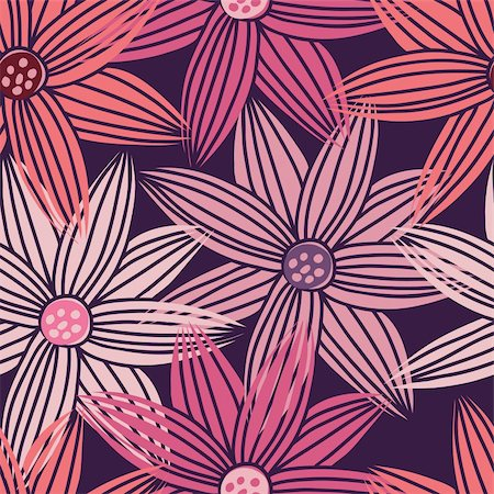simsearch:400-04765926,k - Floral seamless pattern in vector Stock Photo - Budget Royalty-Free & Subscription, Code: 400-04350524
