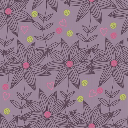 simsearch:400-04765926,k - Floral seamless pattern in vector Stock Photo - Budget Royalty-Free & Subscription, Code: 400-04350525