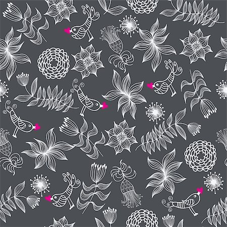 simsearch:400-04765926,k - Floral seamless pattern in vector Stock Photo - Budget Royalty-Free & Subscription, Code: 400-04350534