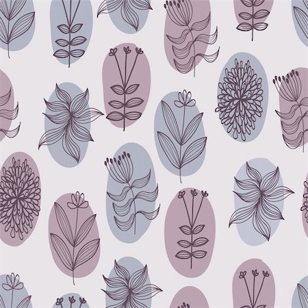 simsearch:400-04765926,k - Floral seamless pattern in vector Stock Photo - Budget Royalty-Free & Subscription, Code: 400-04350535