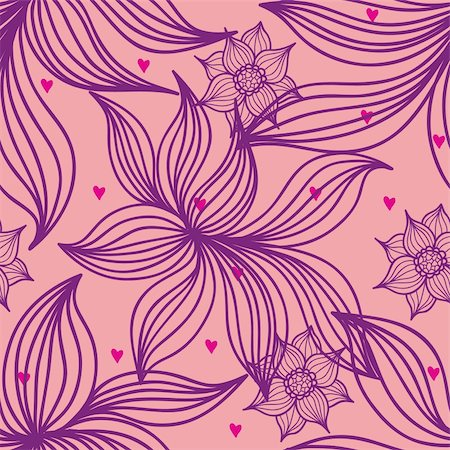seamless floral - Floral seamless pattern in vector Stock Photo - Budget Royalty-Free & Subscription, Code: 400-04350537