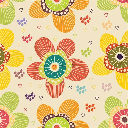 simsearch:400-04765926,k - Floral seamless pattern in vector Stock Photo - Budget Royalty-Free & Subscription, Code: 400-04350539