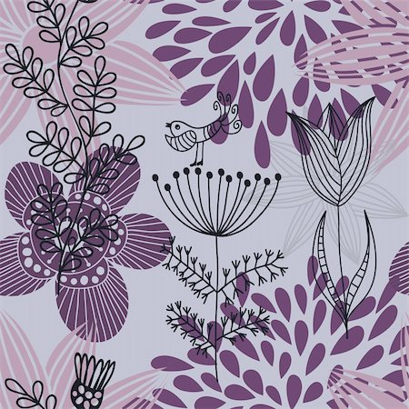 simsearch:400-04765926,k - Floral seamless pattern in vector Stock Photo - Budget Royalty-Free & Subscription, Code: 400-04350544