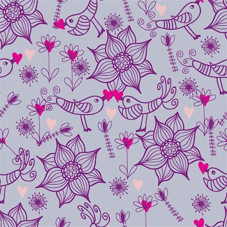 simsearch:400-04765926,k - Floral seamless pattern in vector Stock Photo - Budget Royalty-Free & Subscription, Code: 400-04350545
