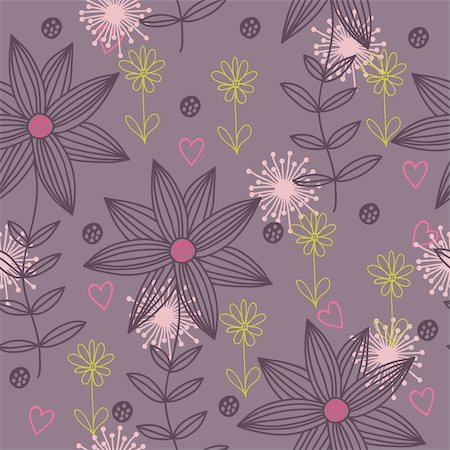 simsearch:400-04765926,k - Floral seamless pattern in vector Stock Photo - Budget Royalty-Free & Subscription, Code: 400-04350547