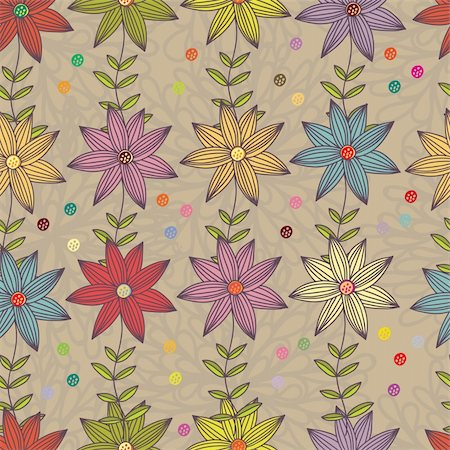 simsearch:400-04765926,k - Floral seamless pattern in vector Stock Photo - Budget Royalty-Free & Subscription, Code: 400-04350548