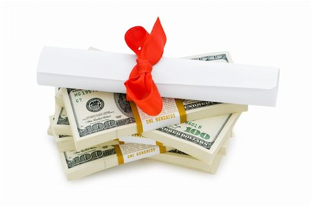education loan - Concept of expensive education - dollars and diploma Stock Photo - Budget Royalty-Free & Subscription, Code: 400-04351142