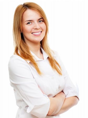 raysay (artist) - Business woman standing and smiling Stock Photo - Budget Royalty-Free & Subscription, Code: 400-04351233