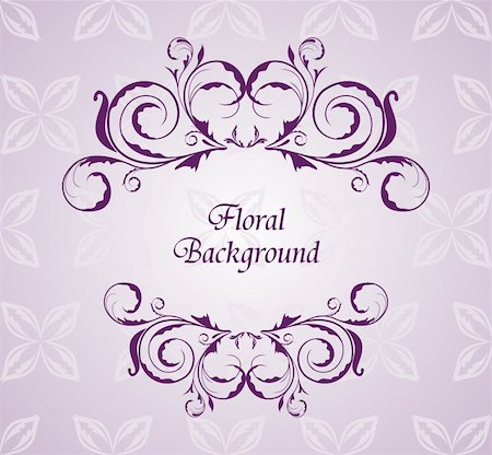 Illustration floral background for design wedding card - vector Stock Photo - Budget Royalty-Free & Subscription, Code: 400-04351290