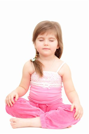 raysay (artist) - sleepy little girl on white Stock Photo - Budget Royalty-Free & Subscription, Code: 400-04351355