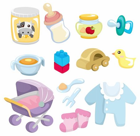 cartoon baby goods  icon Stock Photo - Budget Royalty-Free & Subscription, Code: 400-04351459