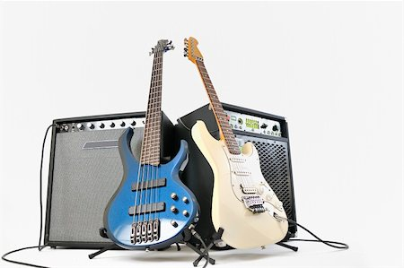 guitars and amplifiers Stock Photo - Budget Royalty-Free & Subscription, Code: 400-04351667