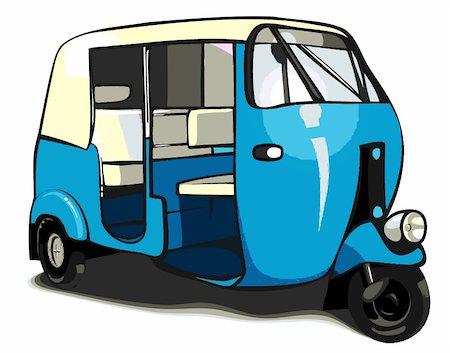 rickshaw transportation Stock Photo - Budget Royalty-Free & Subscription, Code: 400-04352160