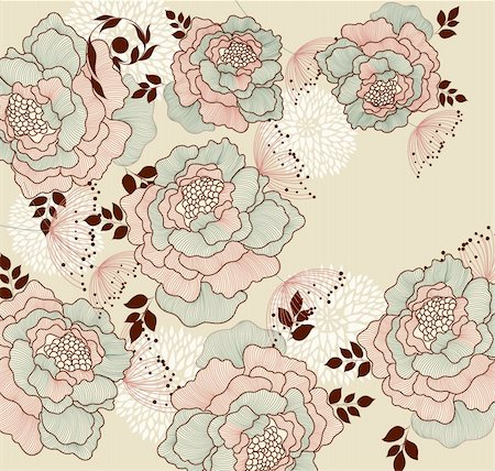 decoration wedding rose vintage - Background with flowers Stock Photo - Budget Royalty-Free & Subscription, Code: 400-04352586
