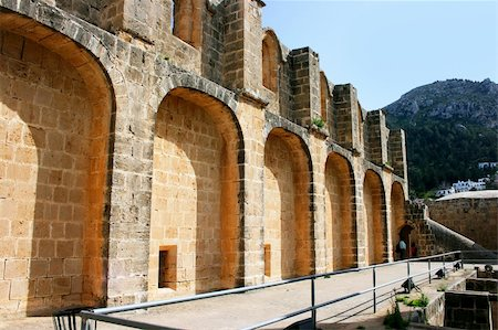 ruzanna - Historic Bellapais Abbey in Kyrenia, Northern Cyprus.Original construction was built between 1198-1205, it is the most beautiful Gothic building in the Near East. Stock Photo - Budget Royalty-Free & Subscription, Code: 400-04353195