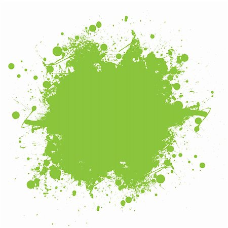 spot paint - Grunge green ink splat with copyspace and white background Stock Photo - Budget Royalty-Free & Subscription, Code: 400-04353293