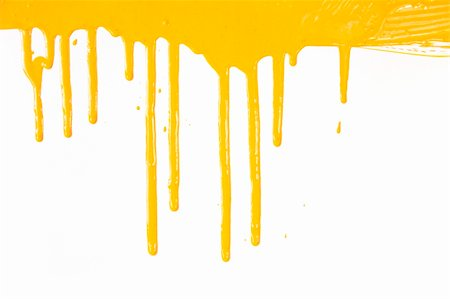 dripping splat - Orange paint  dripping / isolated on white background with copy space / real photo Stock Photo - Budget Royalty-Free & Subscription, Code: 400-04364040