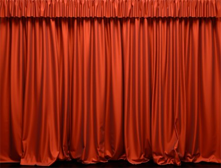 Red curtain on the stage. Theater Performance Stock Photo - Budget Royalty-Free & Subscription, Code: 400-04365586