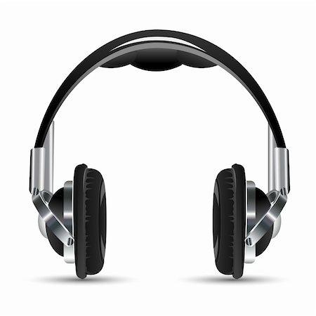 illustration of headphone on white background Stock Photo - Budget Royalty-Free & Subscription, Code: 400-04366226