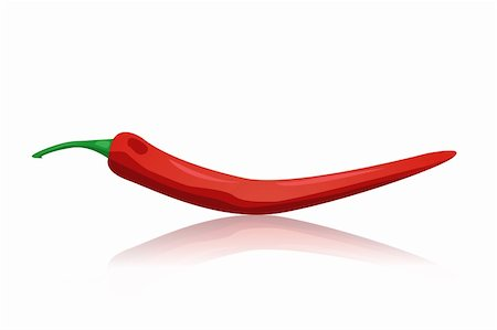 red chili peppers vector Stock Photo - Budget Royalty-Free & Subscription, Code: 400-04366353
