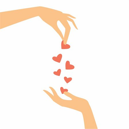 two hands pass each other heart Stock Photo - Budget Royalty-Free & Subscription, Code: 400-04366600