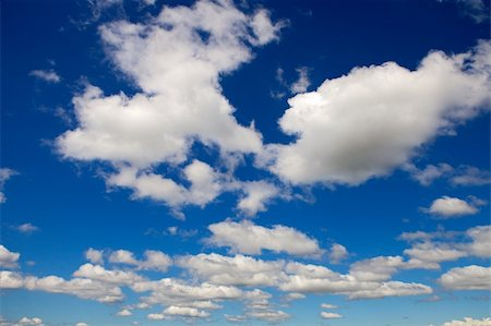 Beautiful clouds seen from the blue sky Stock Photo - Budget Royalty-Free & Subscription, Code: 400-04366878