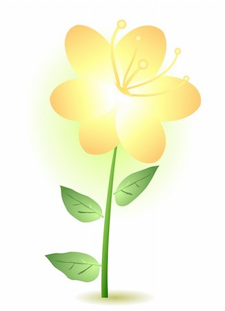 simsearch:400-04367215,k - Vector illustration of a yellow lily Stock Photo - Budget Royalty-Free & Subscription, Code: 400-04367229