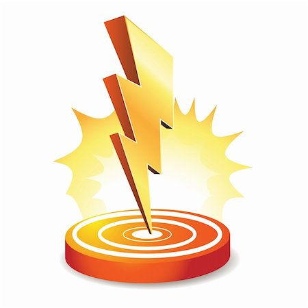 Powerful lightning bolt targeting Stock Photo - Budget Royalty-Free & Subscription, Code: 400-04368441