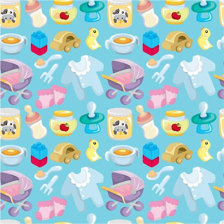 cartoon baby good seamless pattern Stock Photo - Budget Royalty-Free & Subscription, Code: 400-04368749