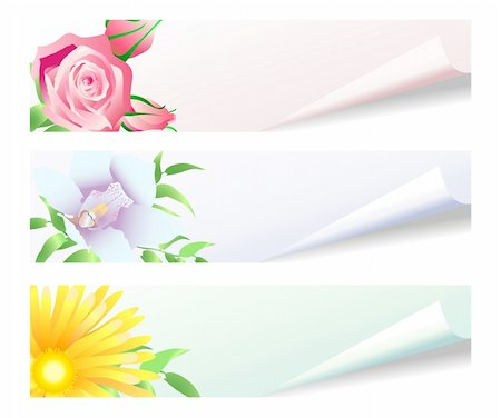 simsearch:400-04367215,k - Collection of paper stickers with floral drawings Stock Photo - Budget Royalty-Free & Subscription, Code: 400-04368824