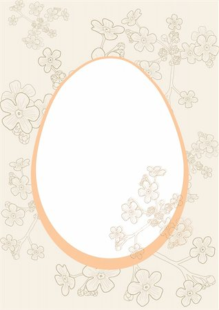 florist vector - Vector illustration of Easter egg on floral background Stock Photo - Budget Royalty-Free & Subscription, Code: 400-04368836