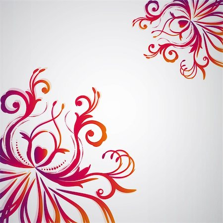 Abstract floral background with oriental flowers. Stock Photo - Budget Royalty-Free & Subscription, Code: 400-04369030