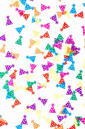 party celebration paper confetti - colored holiday confetti spilled on white Stock Photo - Budget Royalty-Free & Subscription, Code: 400-04369854